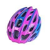 RouLg Fahrradhelm Für Männer Frauen, Einteiliges Formteil Und 28 Belüftungslöcher, Einstellbare Größe, Freunde Und Familie,Rosa